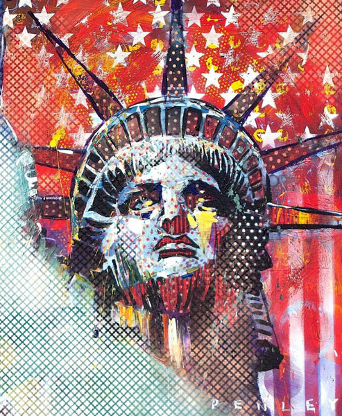 Steve Penley  Liberty 1  giclee print & acrylic on paper    16 x 20 inches unframed | edition of 50