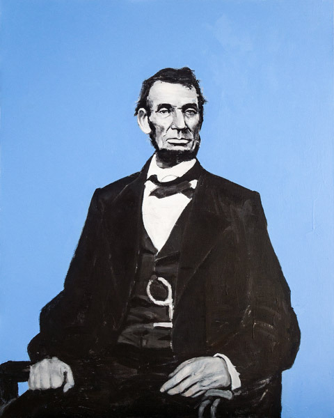 Evan Jones   Lincoln  acrylic on canvas 60 x 48 inches $4500