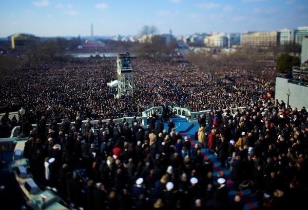 Vincent Laforet  Barack Obama  Inauguration, Washington, D.C. • 2009 62 x 44 inches (framed) 60 x 40 inches (unframed)