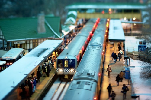Vincent Laforet  Scarsdale Station  Scarsdale, NY • 2007 62 x 44 inches (framed) 60 x 40 inches (unframed)