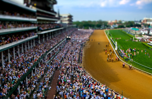 Vincent Laforet  Kentucky Derby  Churchill Downs • 2007 38 x 26 inches (framed) 36 x 24 inches (unframed)