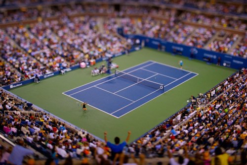 Vincent Laforet  Maria Sharapova  U.S. Open • 2007 38 x 26 inches (framed) 36 x 24 inches (unframed)