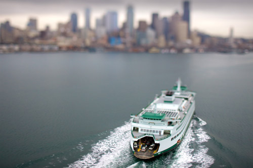 Vincent Laforet  Washington State Ferry  Seattle, WA • 2007 38 x 26 inches (framed) 36 x 24 inches (unframed)