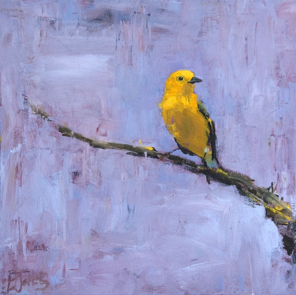 Yellow Warbler<br>acrylic on canvas<br>24 x 24 inches