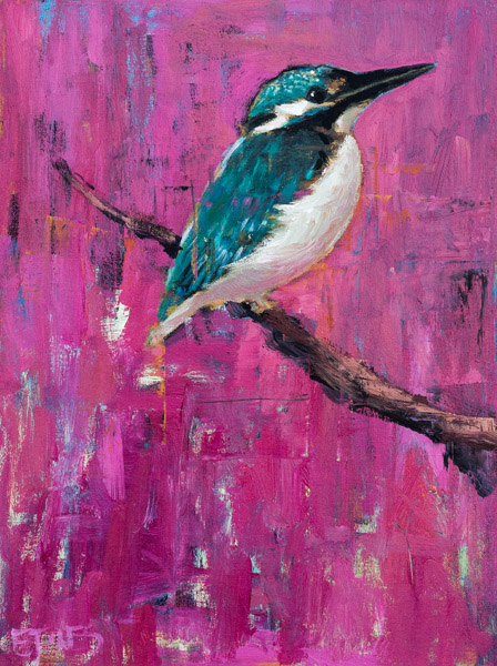 Kingfisher<br>acrylic on canvas<br>18 x 24 inches