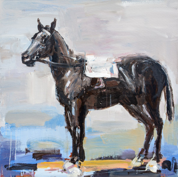 Evan Jones   Painted Rider No. 2  acrylic on canvas 40 x 40 inches (SOLD)