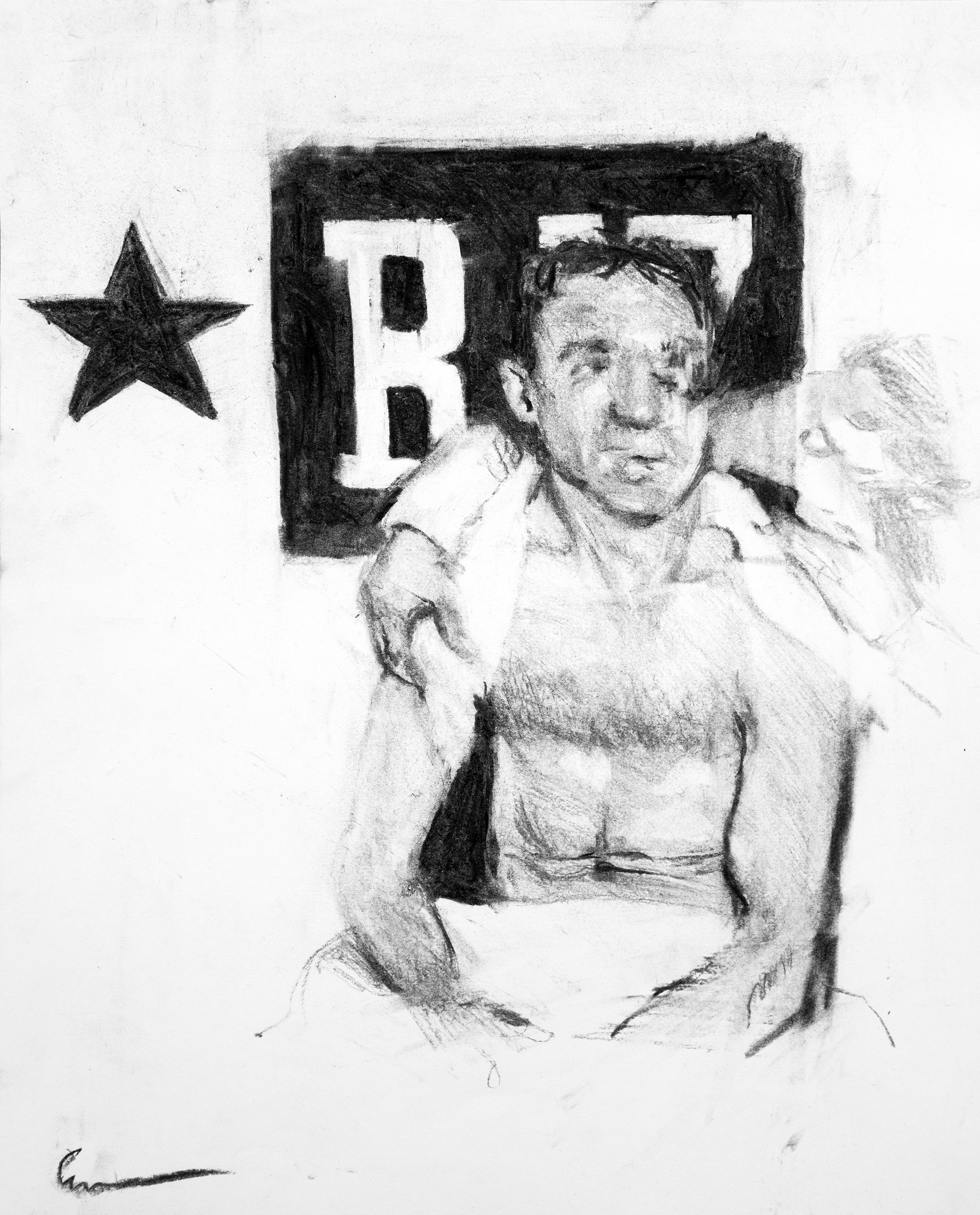 Untitled No. 1<br>charcoal on paper<br>11 x 14 inches