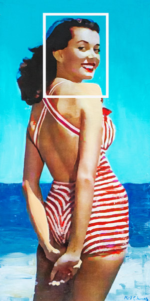 Red Stripes<br>mixed media on panel<br>60 x 36 inches