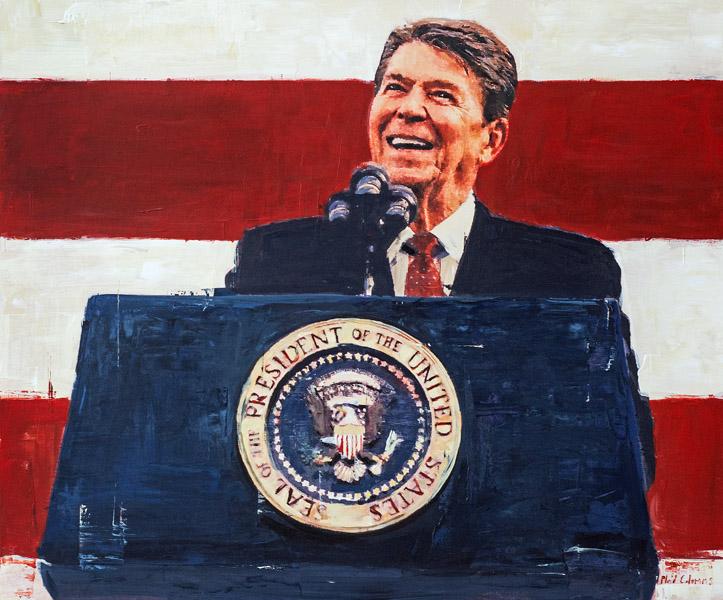PLAID COLUMNS   Reagan mixed media on panel 30 x 36 inches