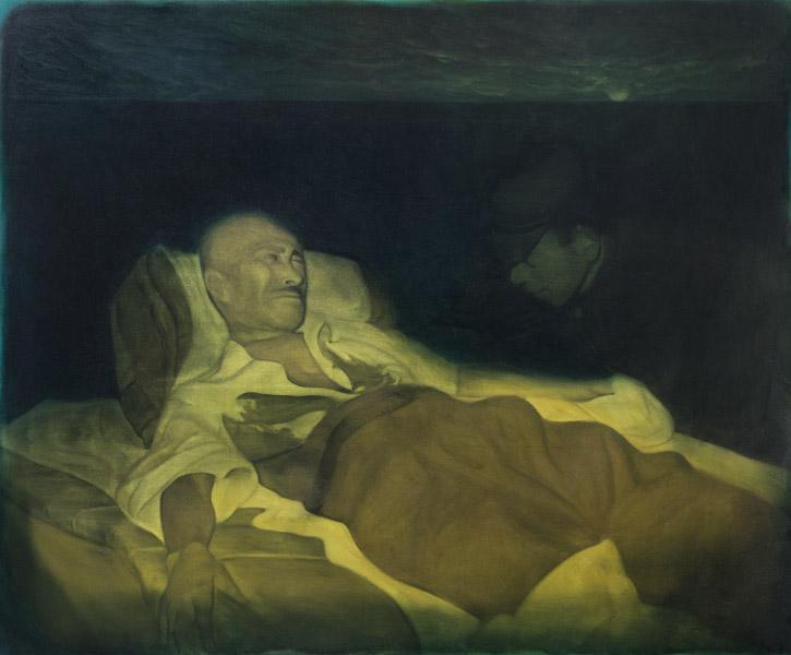 Evan Jones   Tojo As Olympia oil on canvas 49 x 60 inches