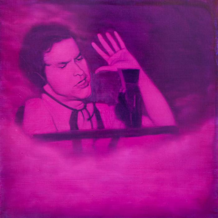 Evan Jones   Orson Welles Or Revelation oil on panel 36 x 36 inches