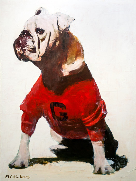 Uga I<br>mixed media on panel<br>24 x 18 inches