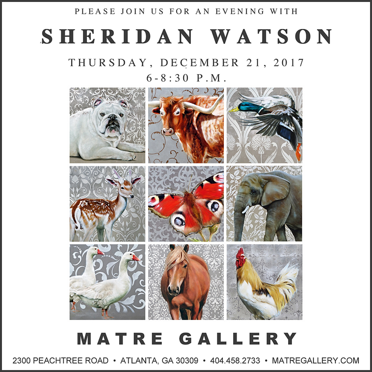 SHERIDAN WATSONPaintings - Please Join Us For An Evening With The ArtistThursday, December 21, 20176:00 - 8:30 p.m.