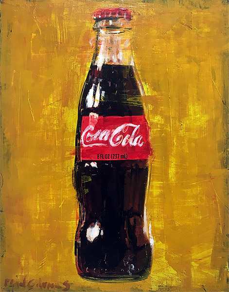 Yellow Coke<br>mixed media on panel<br>14 x 11 inches