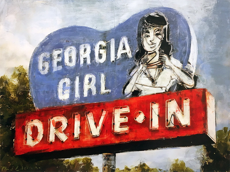 Georgia Girl<br>mixed media on panel<br>18 x 24 inches