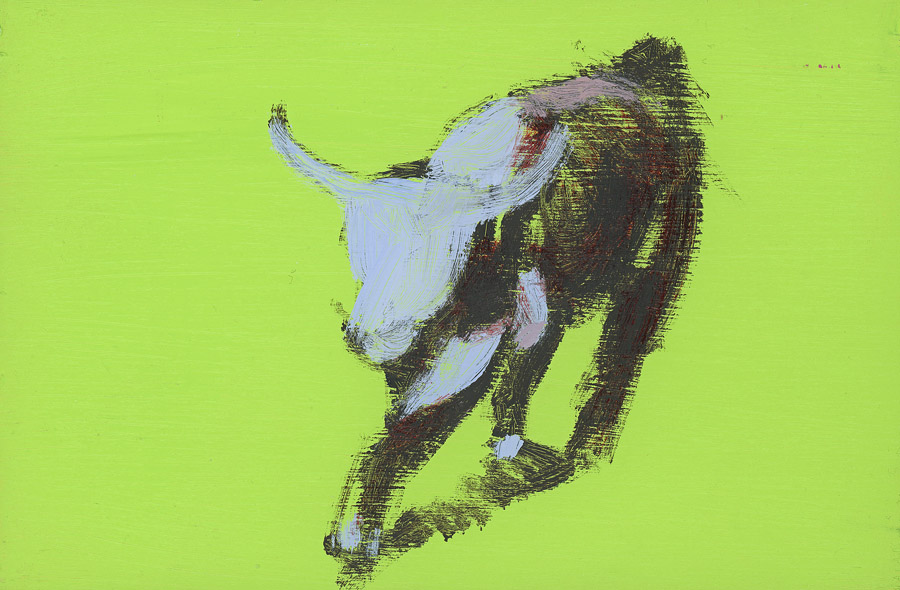 EVAN JONES   Untitled  acrylic on paper 4 x 6 inches