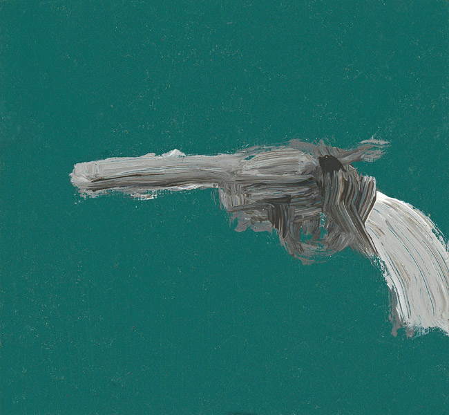EVAN JONES   Untitled  acrylic on paper 4 x 4 inches