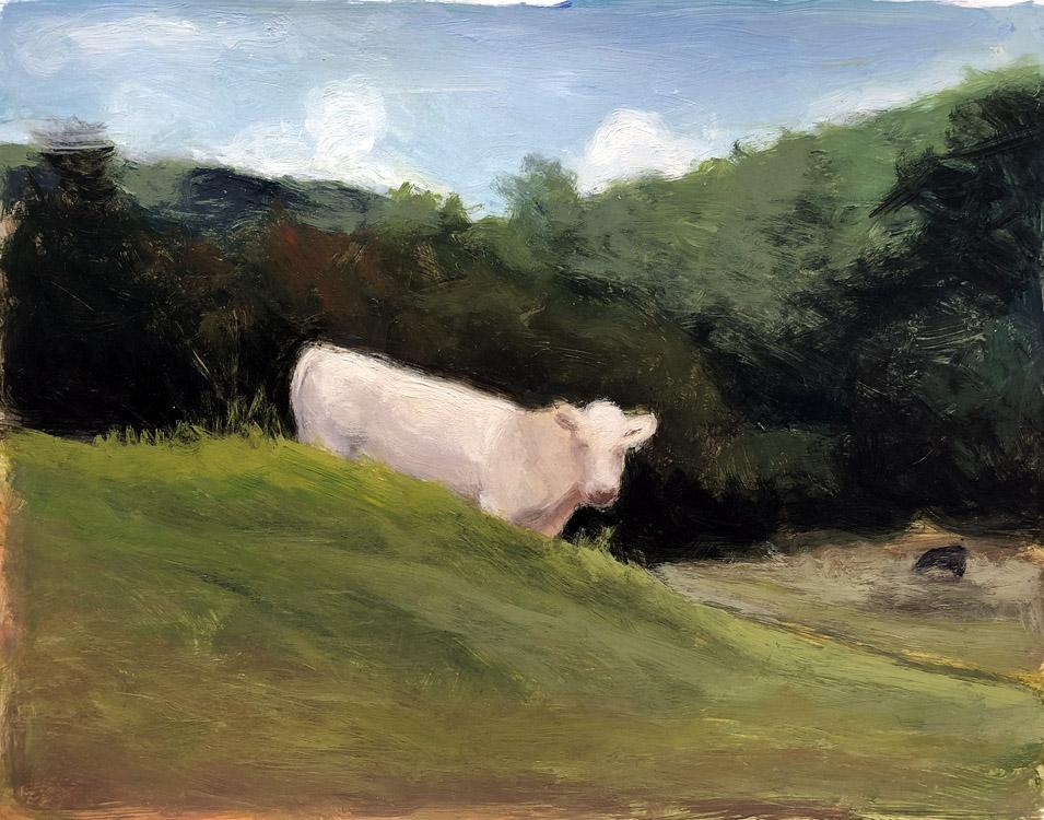EVAN JONES   Untitled  acrylic on paper 11 x 14 inches