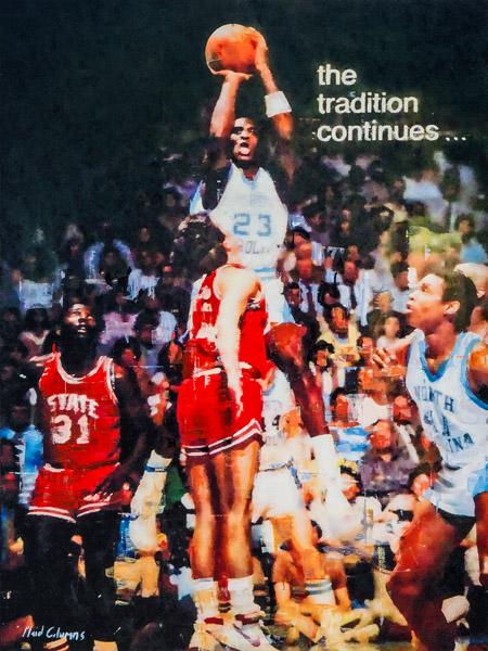 PLAID COLUMNS  Michael Jordan mixed media on panel 40 x 30 inches (SOLD)