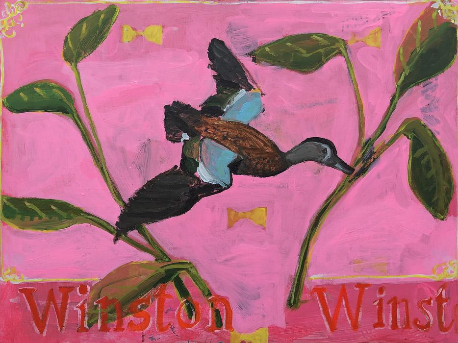 EVAN JONES   Winston Classic  acrylic on canvas 30 x 40 inches