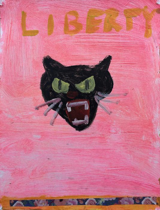 EVAN JONES   Liberty 2  acrylic on paper 12 x 9 inches