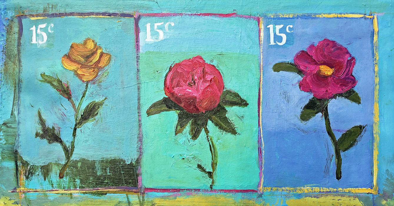EVAN JONES   15¢  acrylic on canvas inches