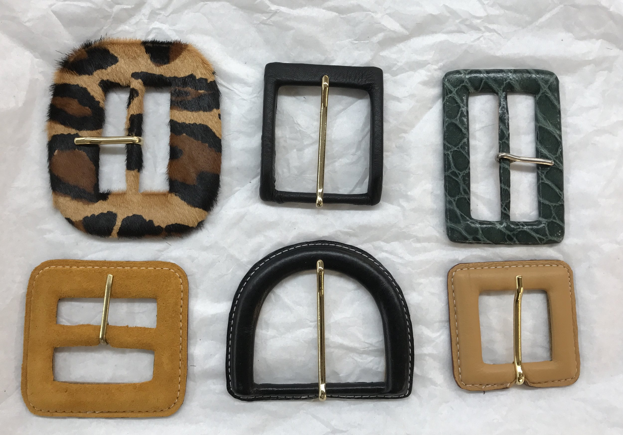 ANY BUCKLE SHAPE - Leather or Fabric can be used to cover buckle