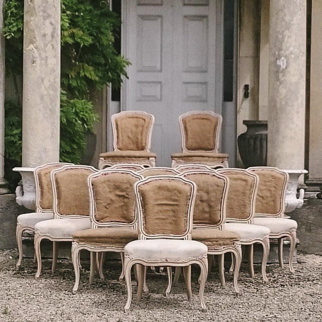 19th century louis xvi dining chairs