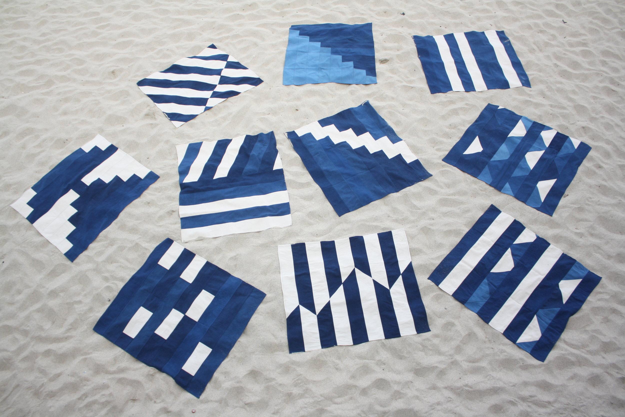 sarah johnson cabbage blue indigo clothing cast cornwall folklore serpentine porthmeor beach mats