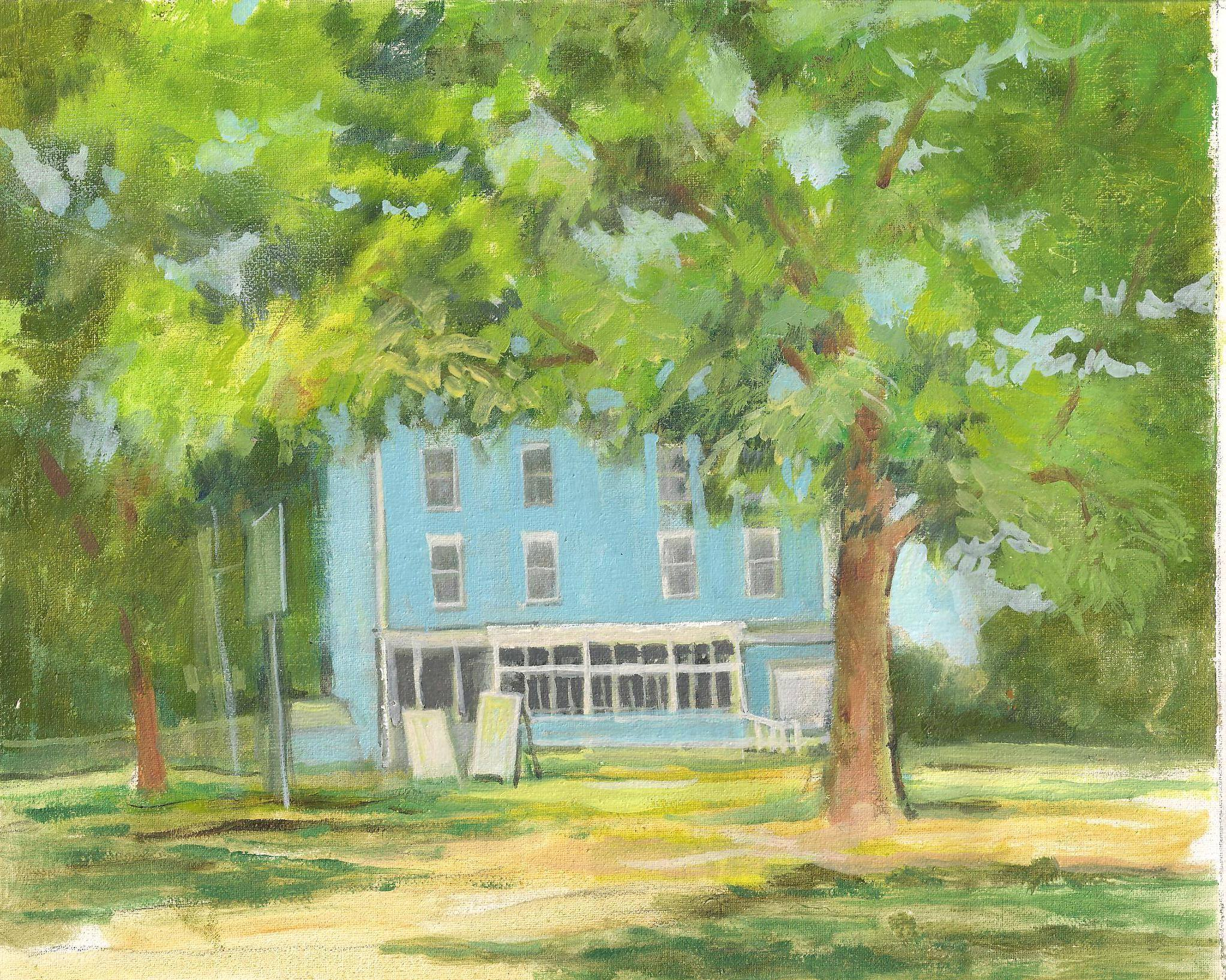 (Painting of the Harvard General Store by Judy Warner)