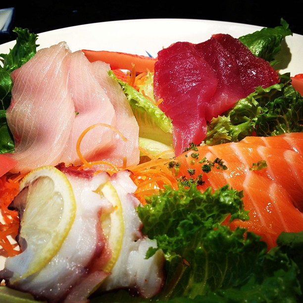 Come in for some fresh sashimi! #mikimotosushi #nola #yellowtail #tuna #freshsalmon #crabstick #octopus #foodies #foodporn #healthyeats