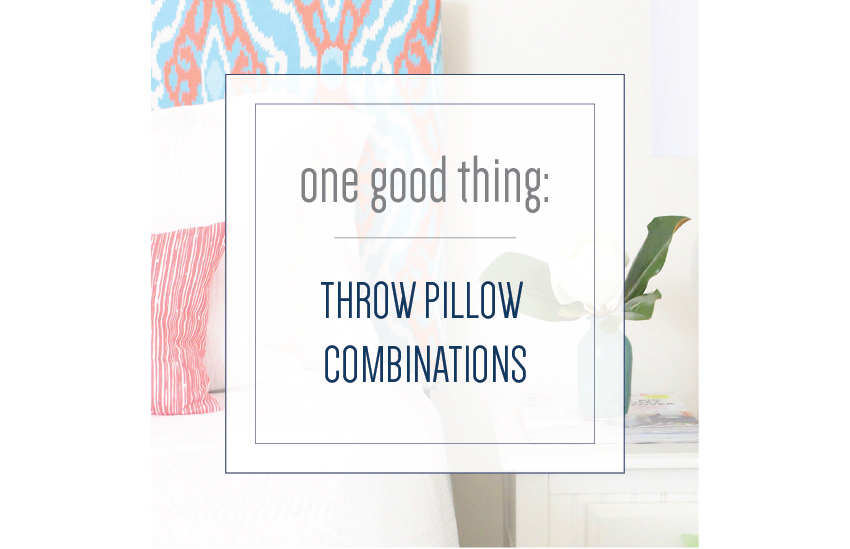 One Good Thing: Throw Pillows