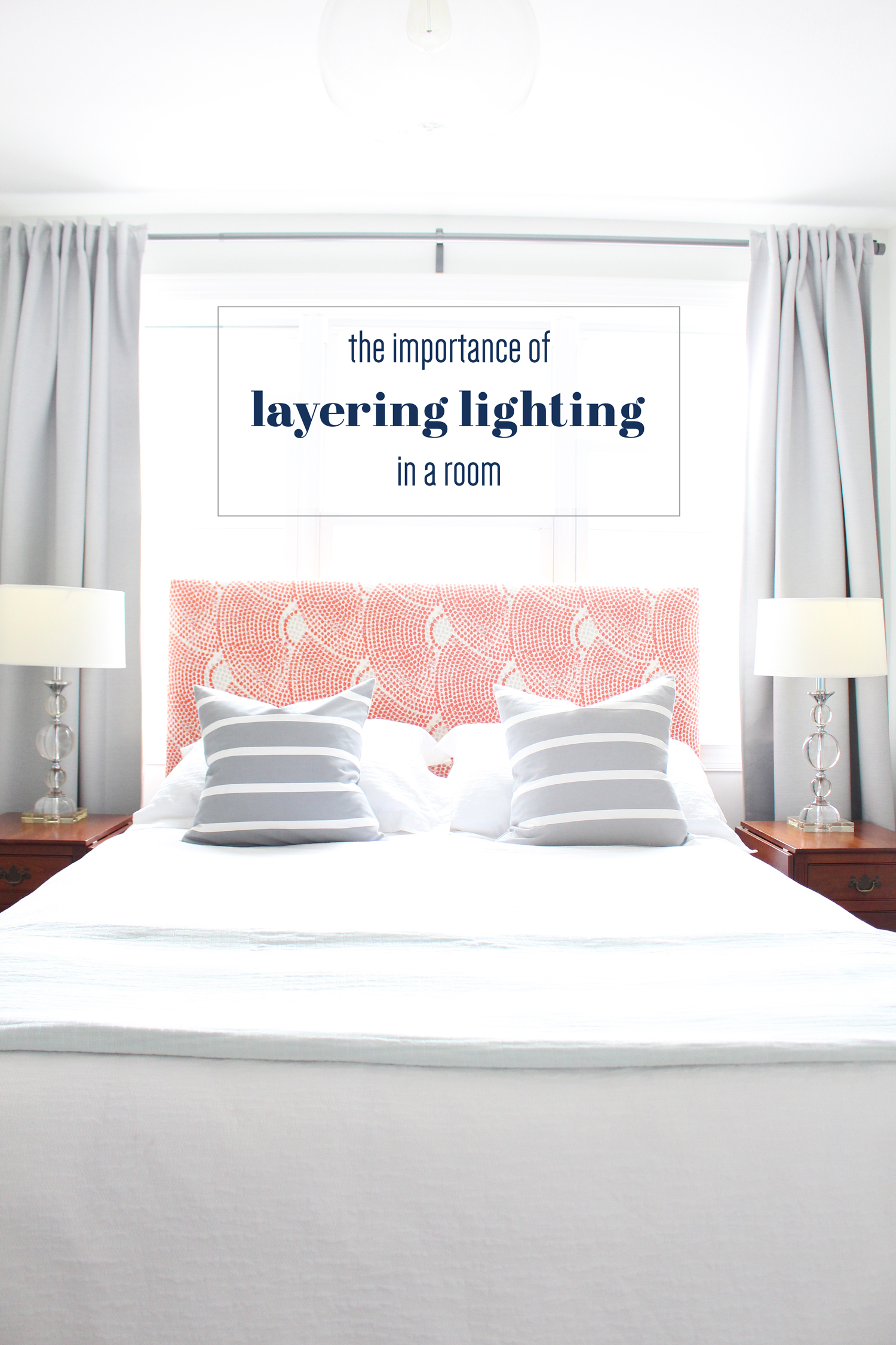 bedside table lamps as a lighting layer