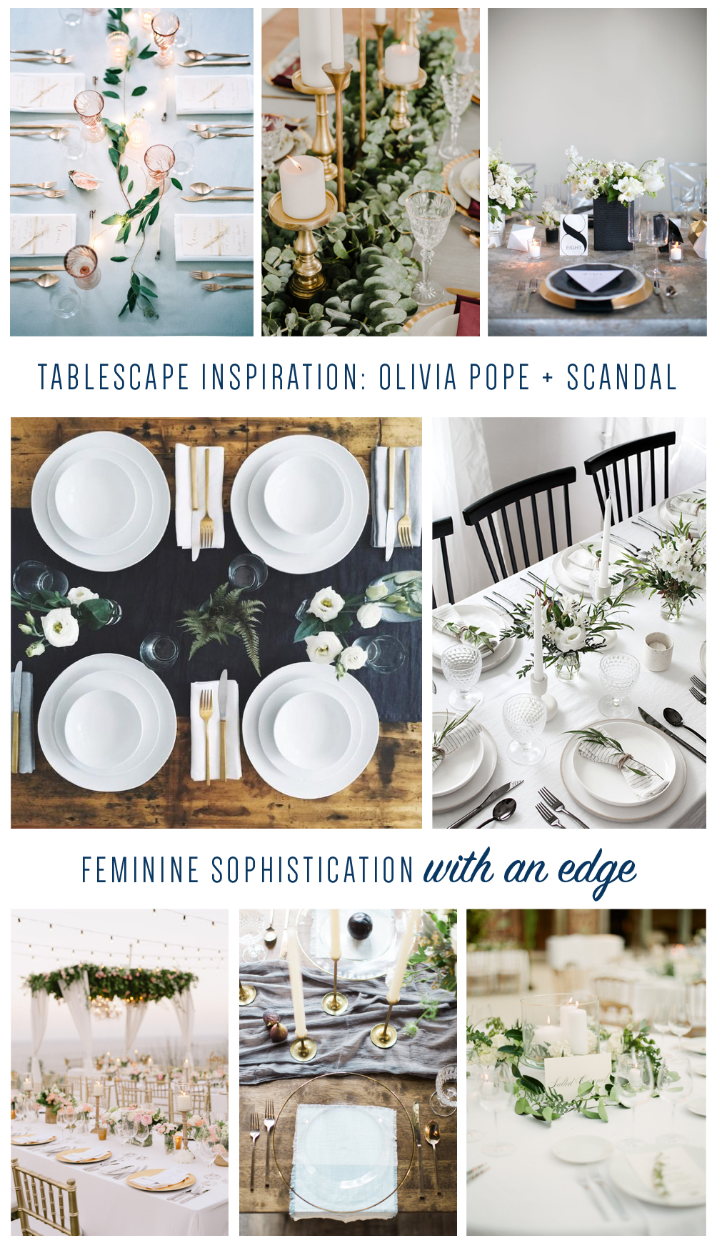 Photo credits (clockwise, starting from the top left):  Peaches and Mint |  Ruffled |  Grey Likes Weddings |  Red House VT |  Homey Oh My |  The Wedding Scoop |  Style Me Pretty  |  Greg Finck