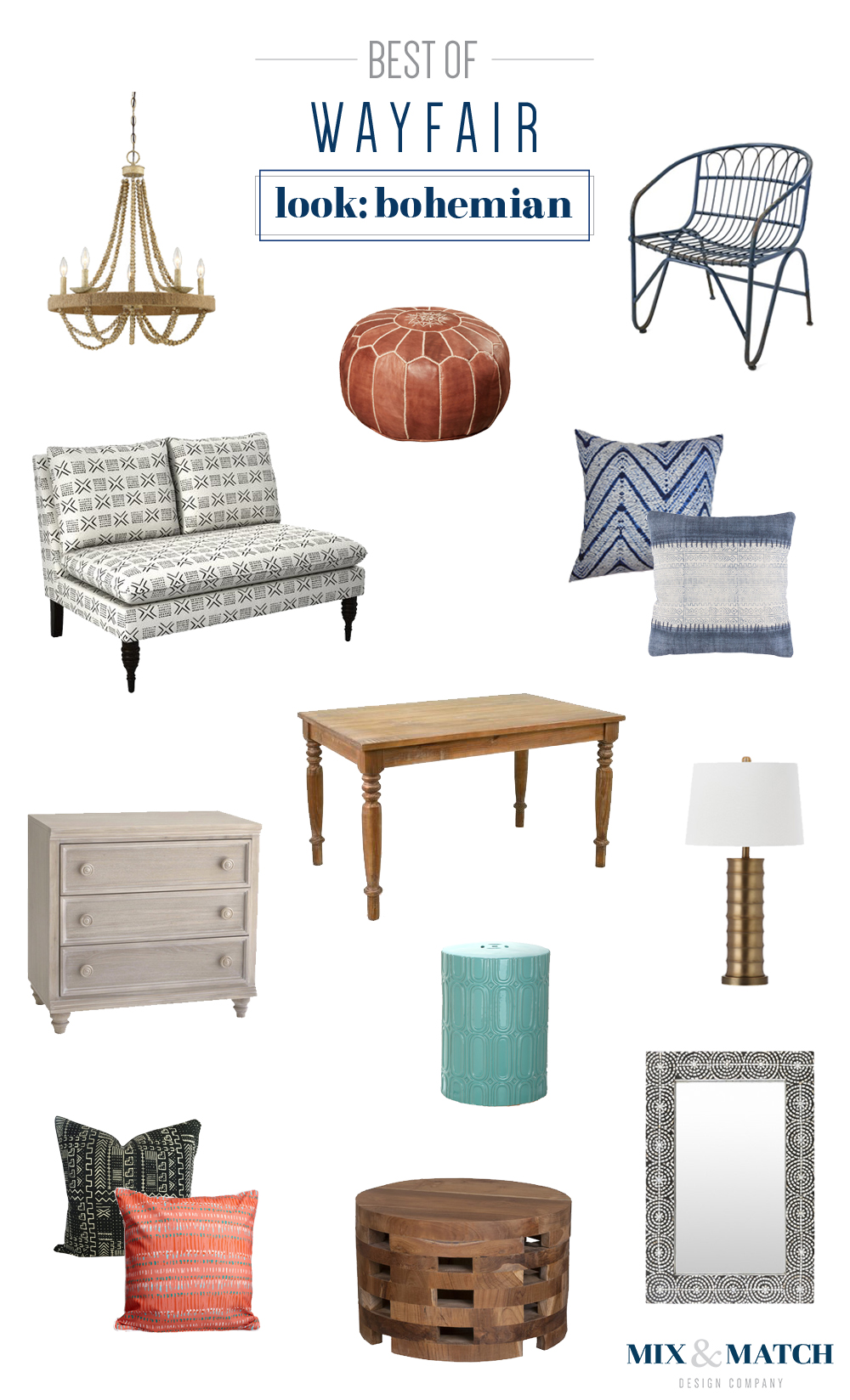 Best of Wayfair's bohemian furniture and home decor collection