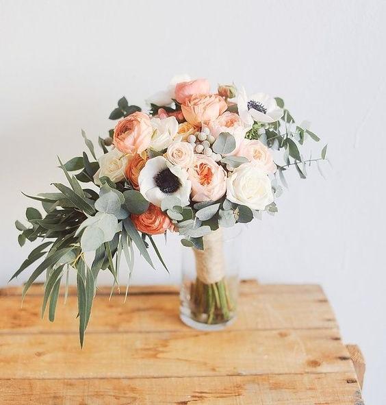 Muddy pastels floral arrangement by Hey Look