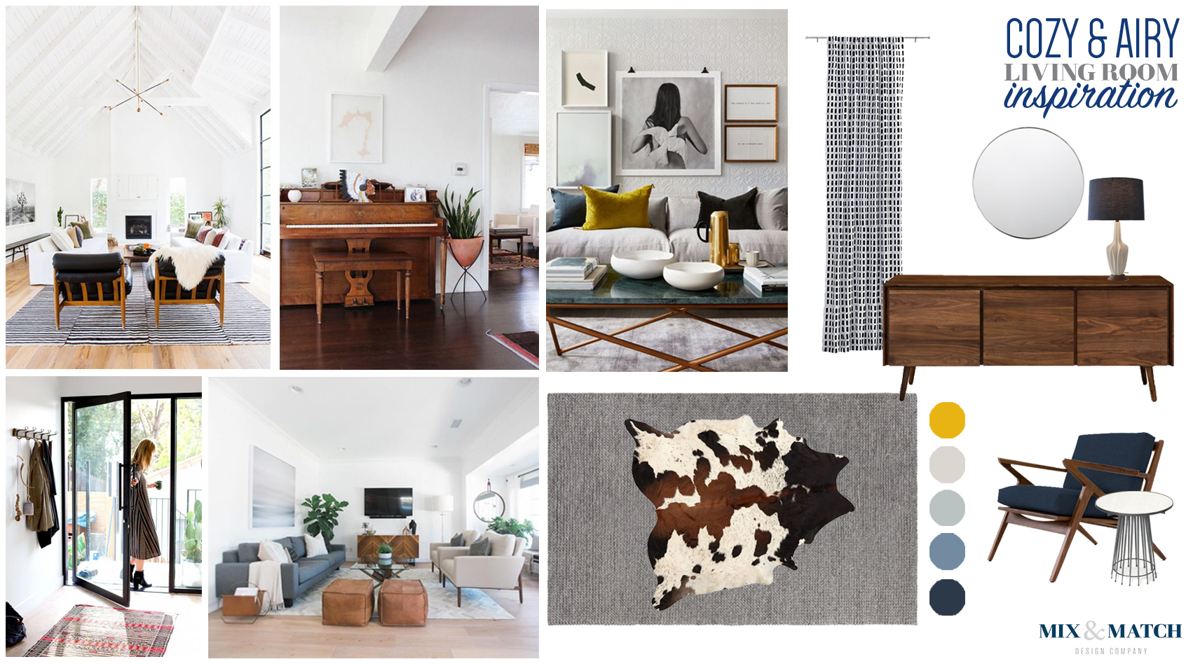 Cozy, airy and modern living room inspiration