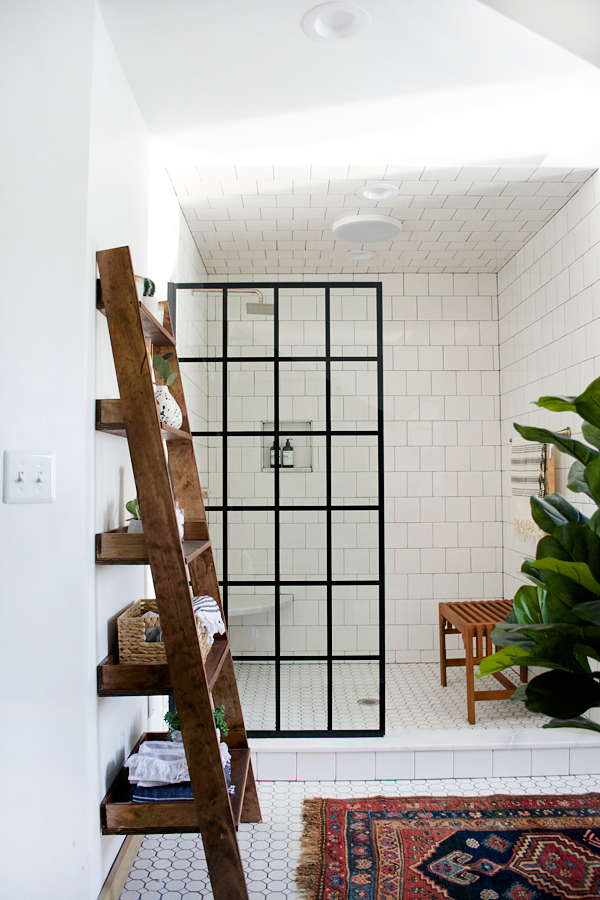 Modern vintage bathroom makeover from Bre Purposed