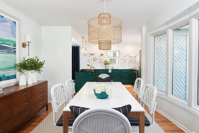 Modern eclectic kitchen and dining room by Abby Manchesky.
