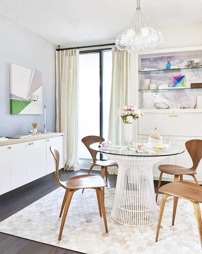 Serene and edgy dining and office space from Design Maze.