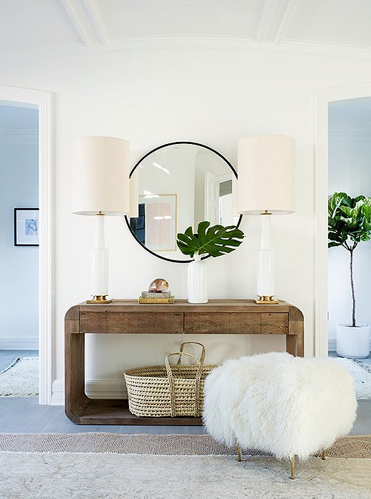 Coastal glam entryway from One Kings Lane.