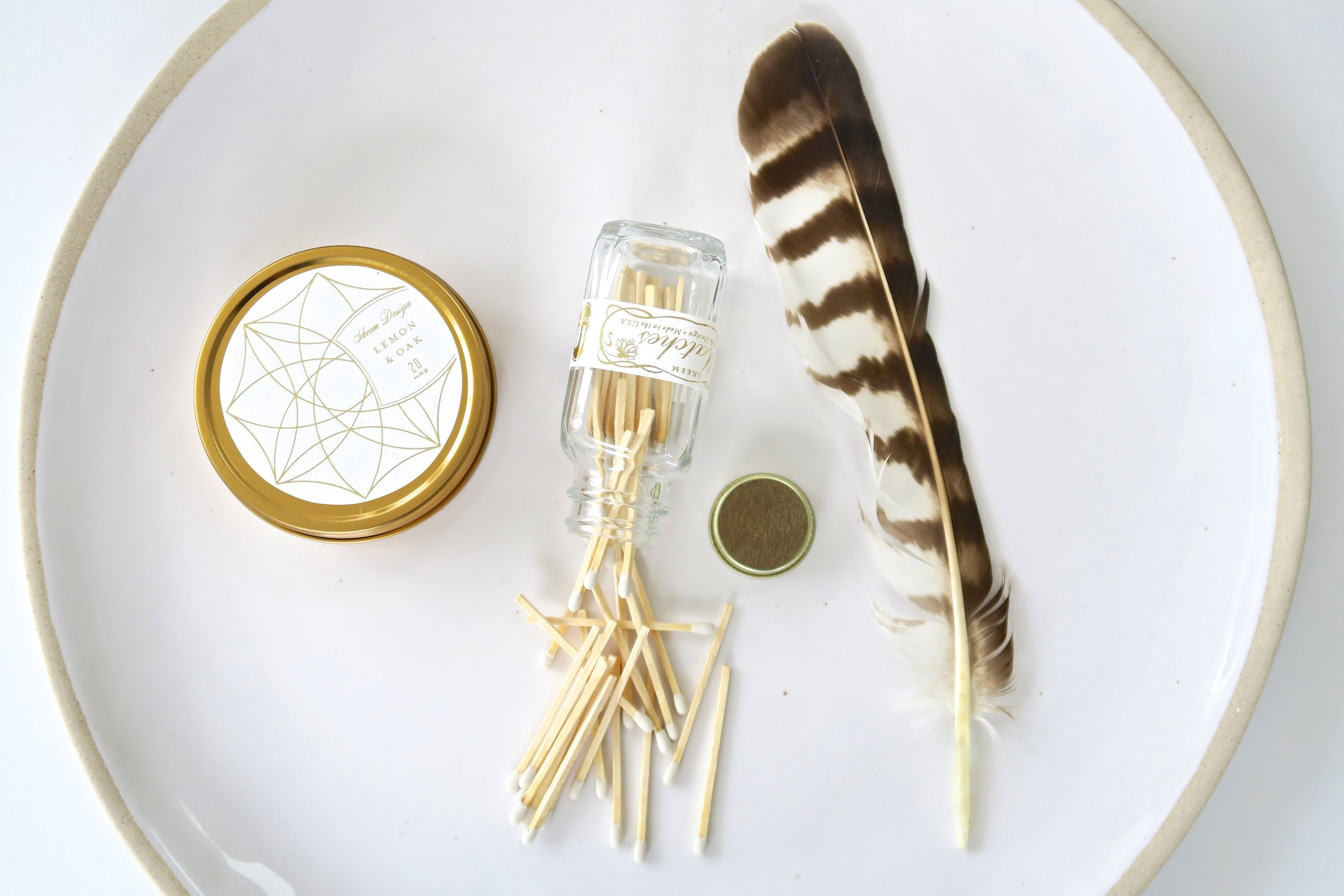 Skeem Design's beautifully designed modern matches and candles.