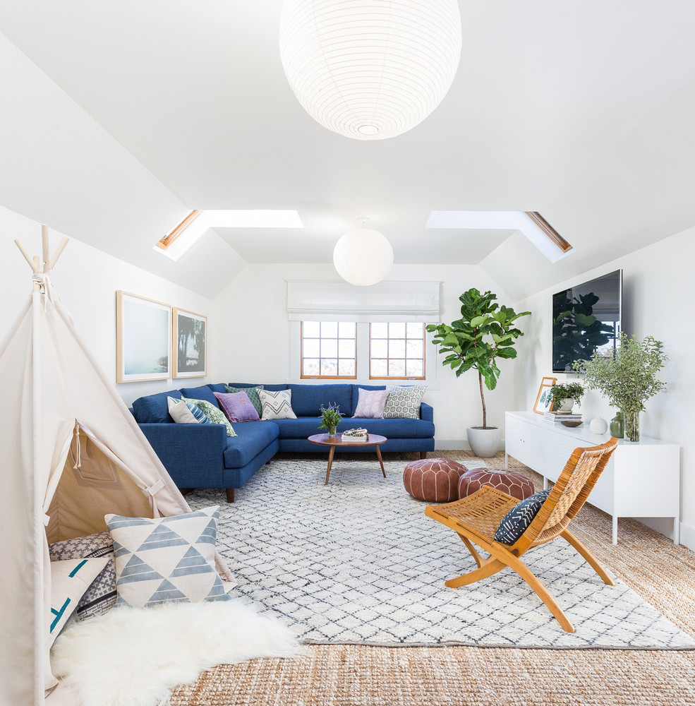 The perfect family-friendly modern boho living room. Design: Heidi Caillier. Photography: Haris Kenjar.