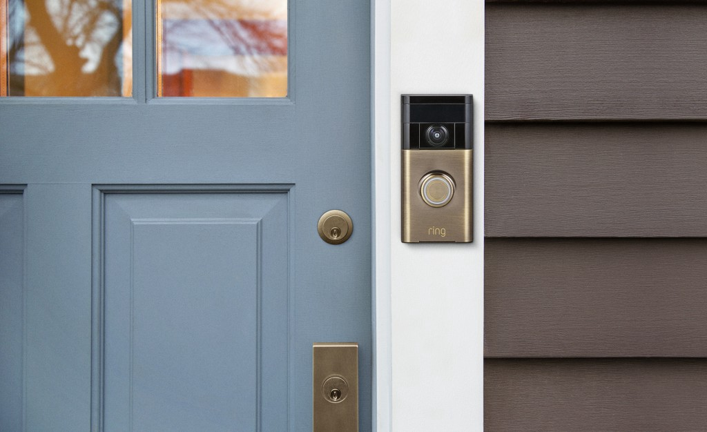 Ring: the Smart Home doorbell with video technology.