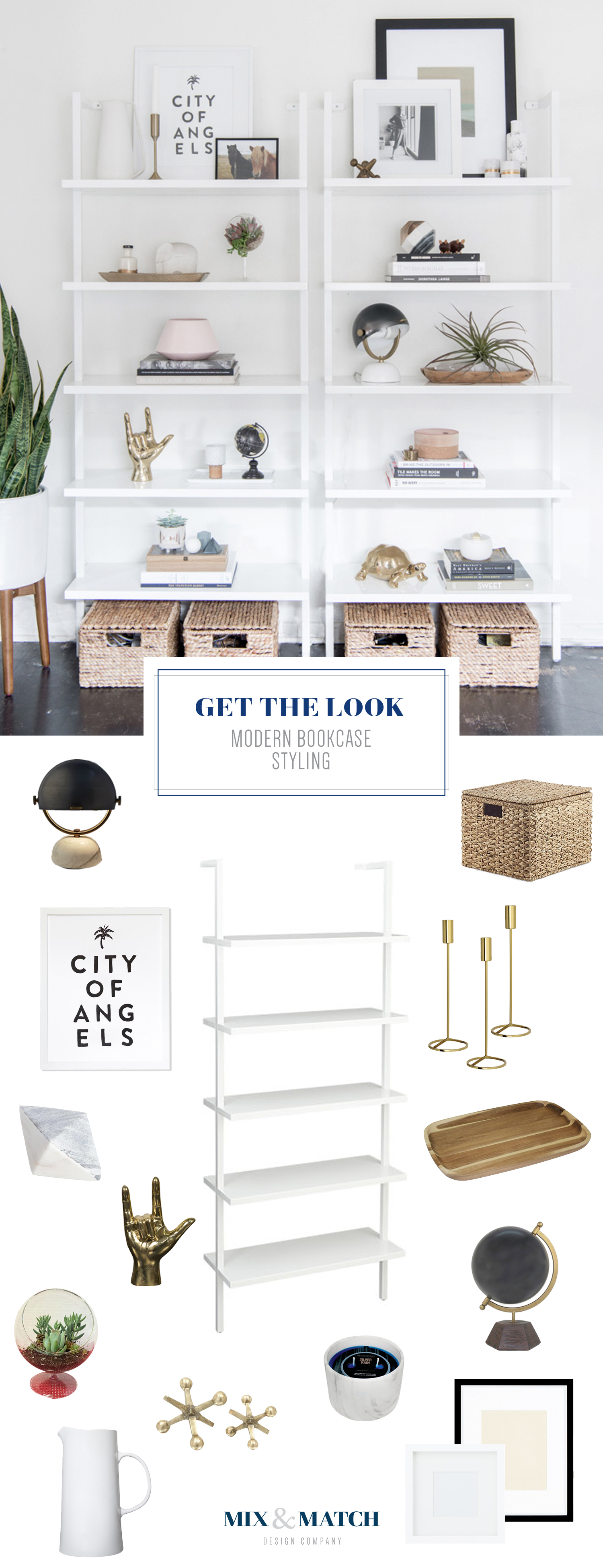 How to style a modern bookshelf // bookshelf styling, bookshelf accesories, style bookcase