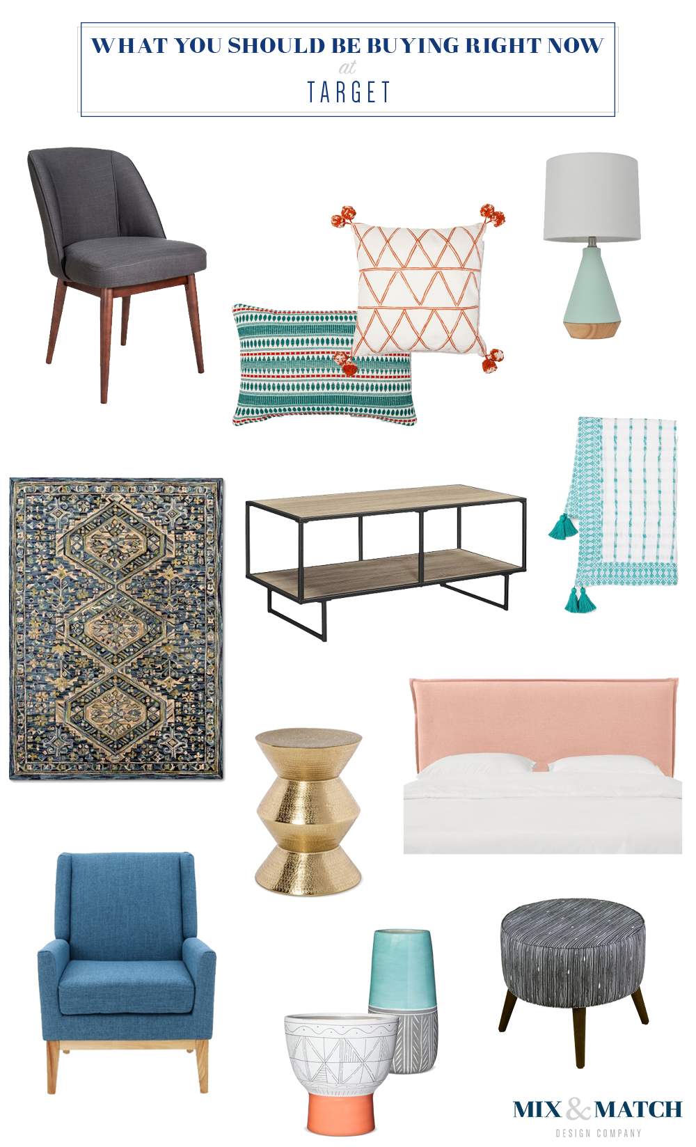 Shop these pieces of furniture and home decor from Target on the blog!