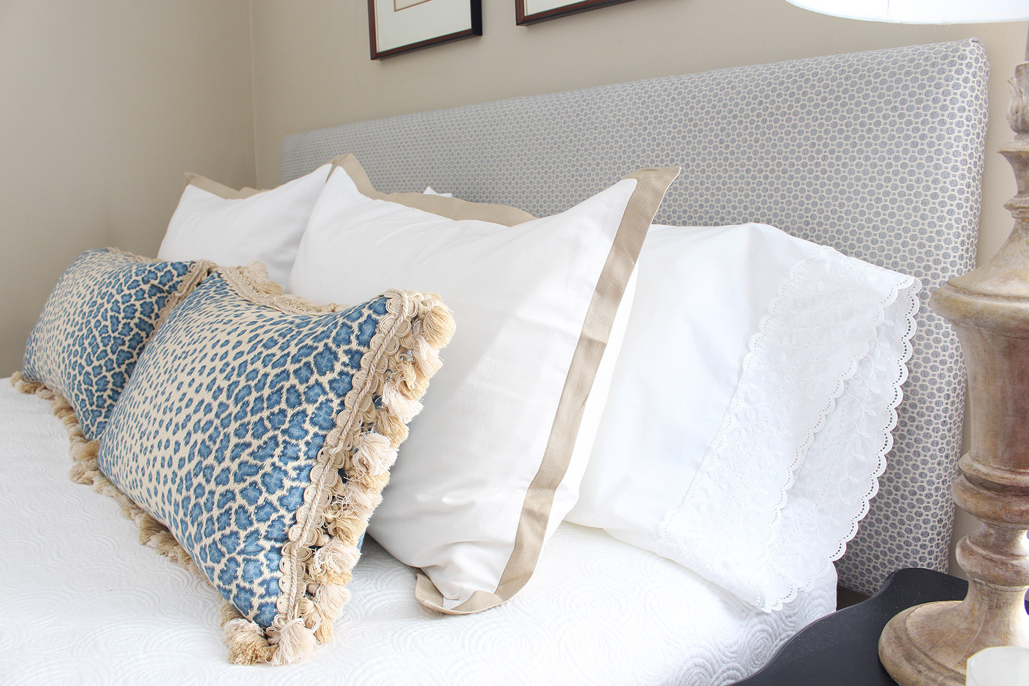 DIY headboard - custom headboard at a budget friendly price! Follow the tutorial so you can make your own.
