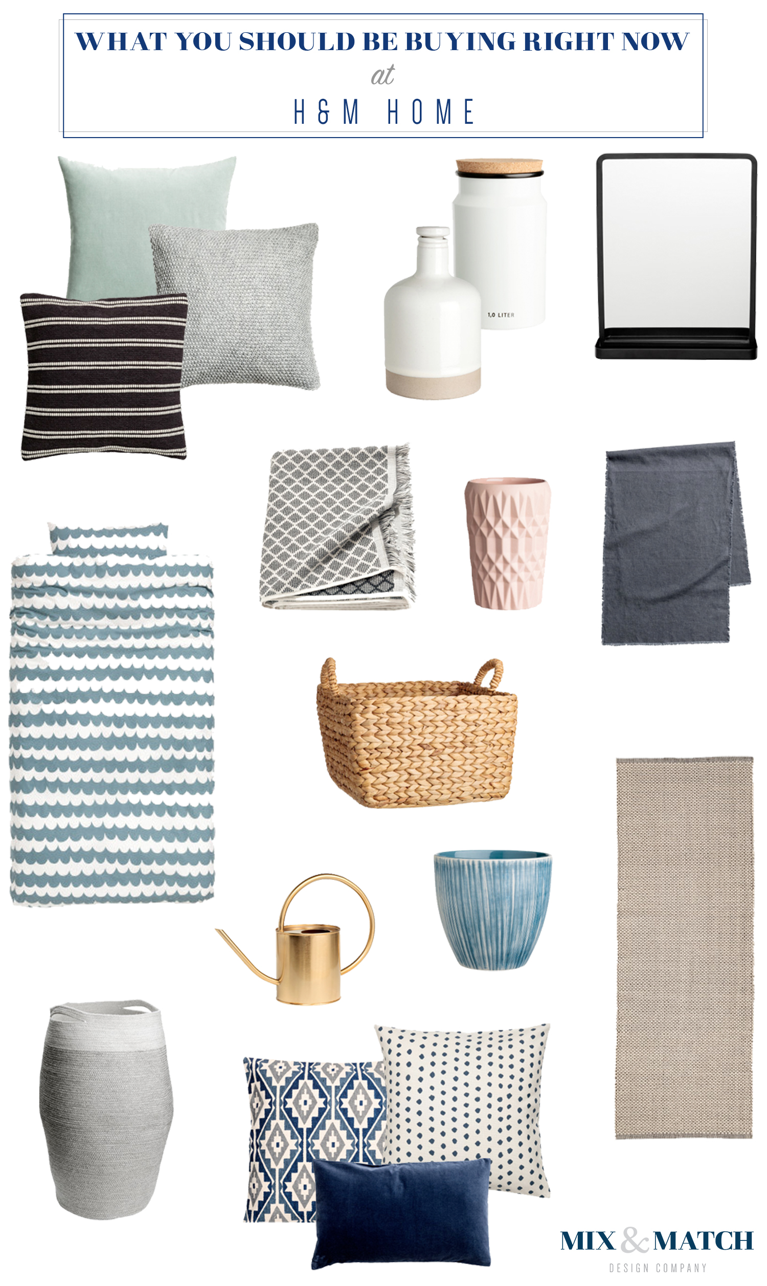 What to buy at H&M Home // pillows, bedding basics, decor, home decor