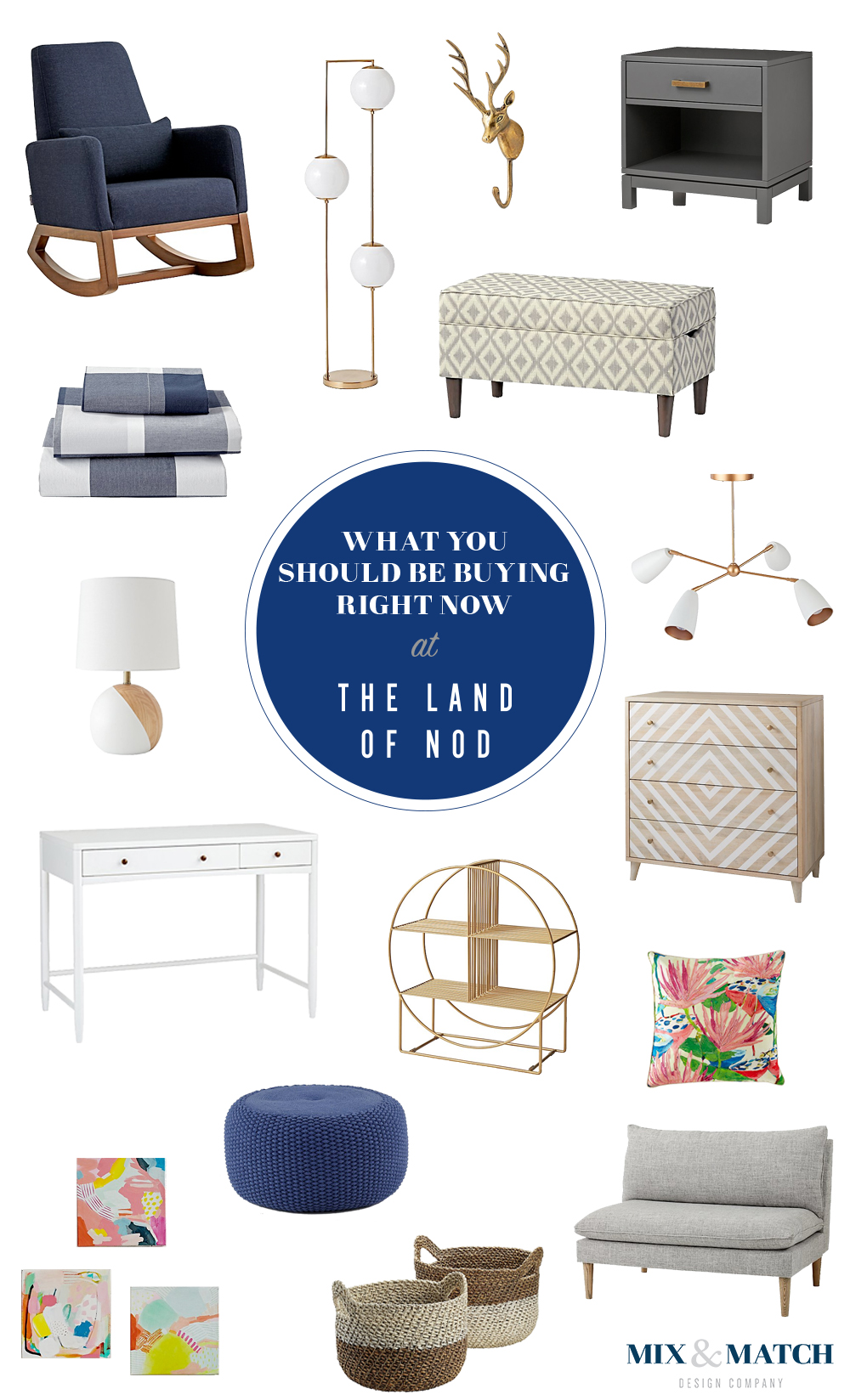 Kids stores aren't just for kids! The Land Of Nod has PLENTY of pieces that fit beautifully into grown-up spaces. Shop these pieces on the blog. // land of nod, land of nod furniture, land of nod decor