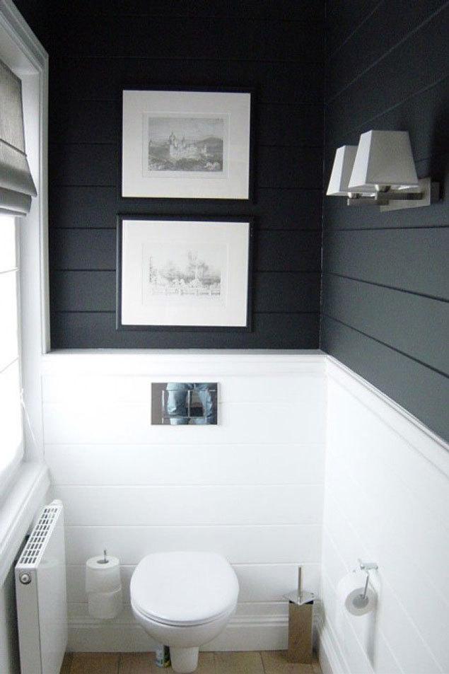 Dark shiplap bathroom // modern shiplap bathroom